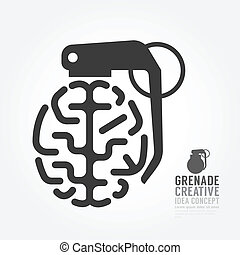 Vector brain distortion from grenade concept engine of...