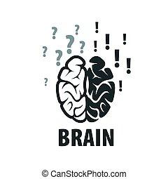 Vector brain logo