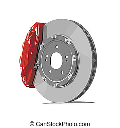 brake disc - vector brake disc on white background