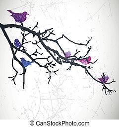 Vector Branch with Birds