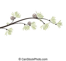 Vector branches pine