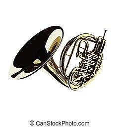 vector brass trumpet
