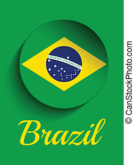 Brazil 2014 Letters with Brazilian Flag - Vector - Brazil...