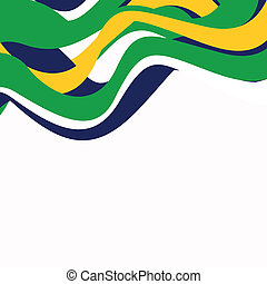 Vector Illustration of an Abstract Brazil Background
