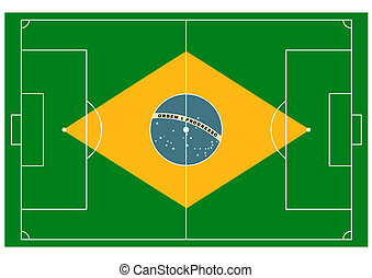 vector Brazil football field