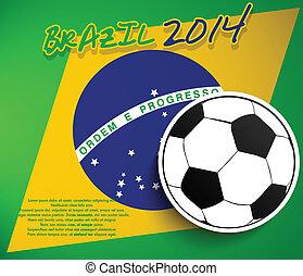 Vector brazil soccer ball tag
