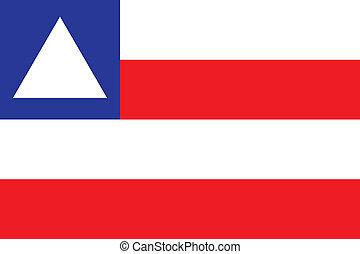 Bahia flag - Vector Brazilian state Bahia flag