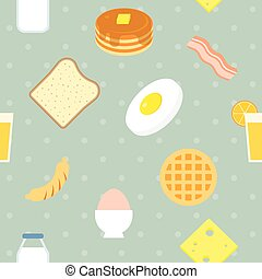 Vector breakfast pattern,seamless