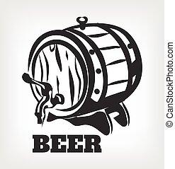 Vector brewery black icon logo