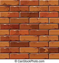 Vector Brick Wall Background Texture Pattern