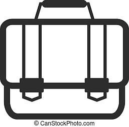 Vector Briefcase Black Icon