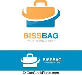 Vector briefcase logo design