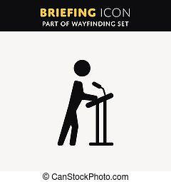 Vector Briefing icon.
