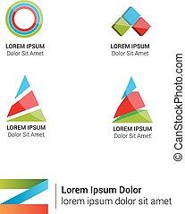 Vector bright abstract logos set