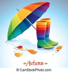 Vector bright autumn background