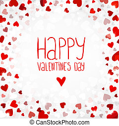 Vector bright background for Valentines day