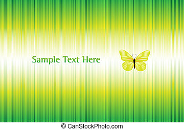 Vector Bright Background With Butterfly