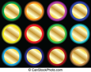vector bright buttons