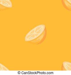 Vector bright orange seamless pattern