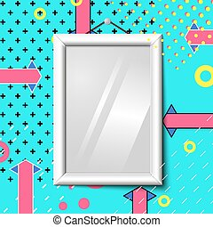 Vector bright realistic poster frame, abstract eps