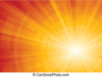Vector bright sunny background