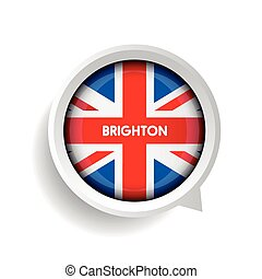 Vector - Brighton and United Kingdom Flag button