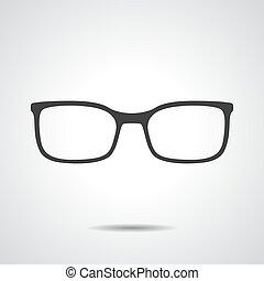 vector, -, bril, illustratie, pictogram