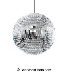vector, brillante, illustration., ball., disco