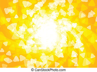 vector, brillante, soleado, plano de fondo
