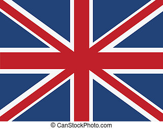 Vector British flag. Size and color of elements can be changed easily.