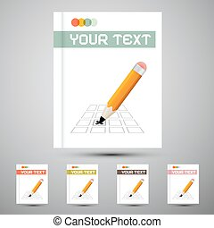Vector Brochure Cover Design Template with Pencil Check Option