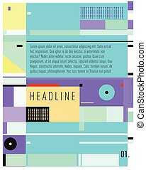 Vector Brochure design template. Annual report vector illustration template. Corporate business catalog and magazine cover. Trendy Business with heads up style presentation graphic elements.