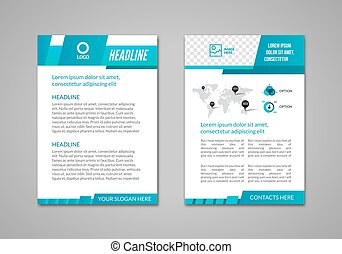 Vector Brochure Flyer design business Layout template, infographic booklet
