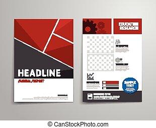 flyer - Vector brochure, flyer, magazine cover booklet...