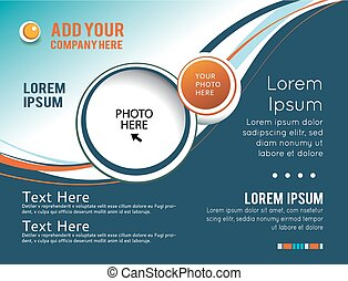 Vector brochure, flyer, magazine cover & poster template. Abstract illustration