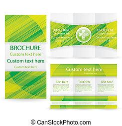 Vector Brochure Layout Design Template green medical