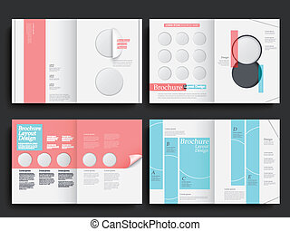 vector brochure layout design template - Template of ...