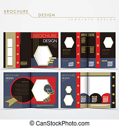 vector brochure layout design with special fancy style