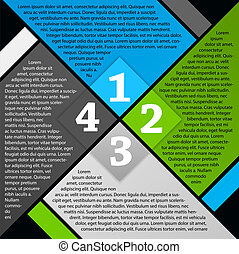 Vector brochure page design