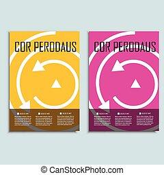Vector brochure template design with arrows