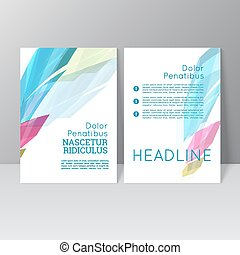 Vector brochure template design
