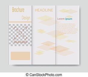 Vector brochure template design with orange elements. EPS 10