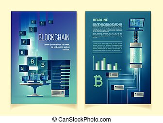bitcoin blockchain flyer template cryptocurrency bitcoin