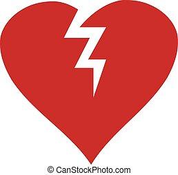 vector broken heart