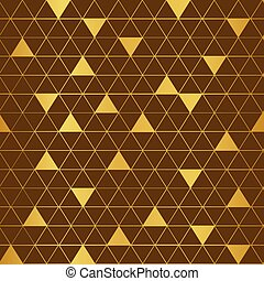 Vector brown and gold triangle pattern background