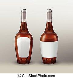 Vector brown bottle