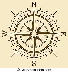 vector brown compass