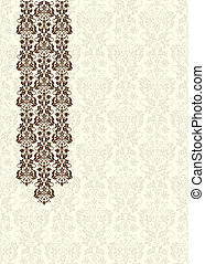 Vector Brown Damask Background