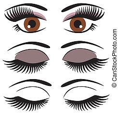 vector brown eyes
