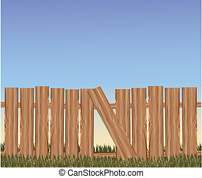 Vector brown fence